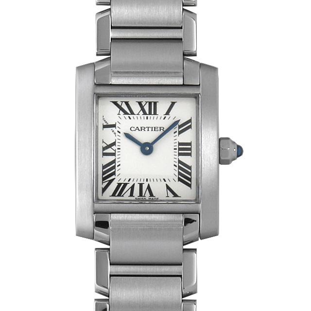【48回払いまで無金利】カルティエ タンクフランセーズ SM W51008Q3 レディース(008WCAAU0155)【中古】【腕時計】【送料無料】