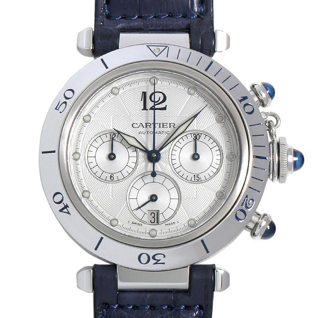 【48回払いまで無金利】カルティエ パシャ クロノグラフ W3103055 メンズ(008WCAAU0158)【中古】【腕時計】【送料無料】
