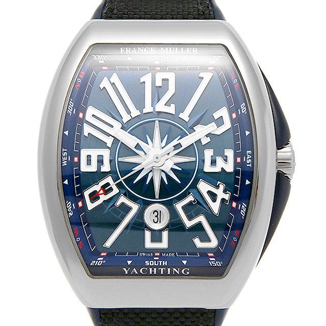 【期間限定ポイント最大10倍!1月24日(木)20時開始】フランクミュラー ヴァンガード ヨッティング V45 SC DT AC BL メンズ(008WFRAU0102)【中古】【腕時計】【送料無料】