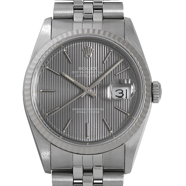 【48回払いまで無金利】ロレックス デイトジャスト 16234 グレータペストリー/バー X番 メンズ(009VROAU0259)【中古】【腕時計】【送料無料】