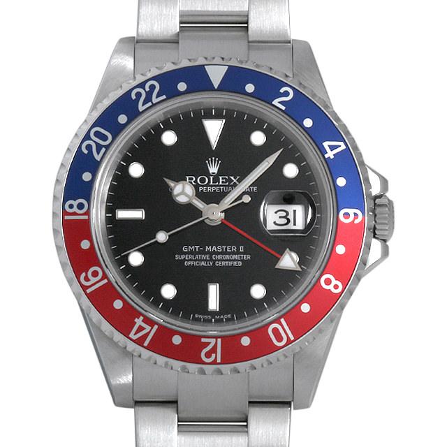 ロレックス GMTマスターII 赤青ベゼル 16710 Z番 メンズ(03T4ROAU0001)【中古】【腕時計】【送料無料】