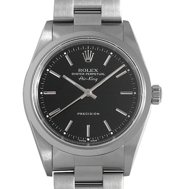 ロレックス オイスターパーペチュアル エアキング 14000M ブラック/バー Y番 メンズ(0A89ROAU0119)【中古】【腕時計】【送料無料】