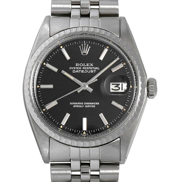 【48回払いまで無金利】ロレックス デイトジャスト 1603 ブラック/バー 24番 メンズ(0BCCROAA0025)【アンティーク】【腕時計】【送料無料】
