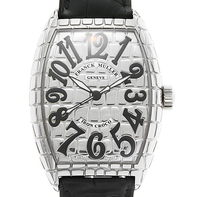 フランクミュラー トノーカーベックス アイアンクロコ 7880SC IRON CRO メンズ(0JLNFRAU0001)【中古】【腕時計】【送料無料】
