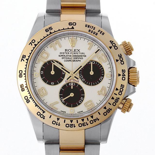 【48回払いまで無金利】ロレックス デイトナ 116503 ホワイト/ブラック/アラビア/新クラスプ メンズ(0LLBROAU0002)【中古】【腕時計】【送料無料】
