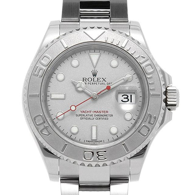 【48回払いまで無金利】ロレックス ヨットマスター ロレジウム 116622 シルバー ランダムシリアル メンズ(007UROAU0590)【中古】【腕時計】【送料無料】