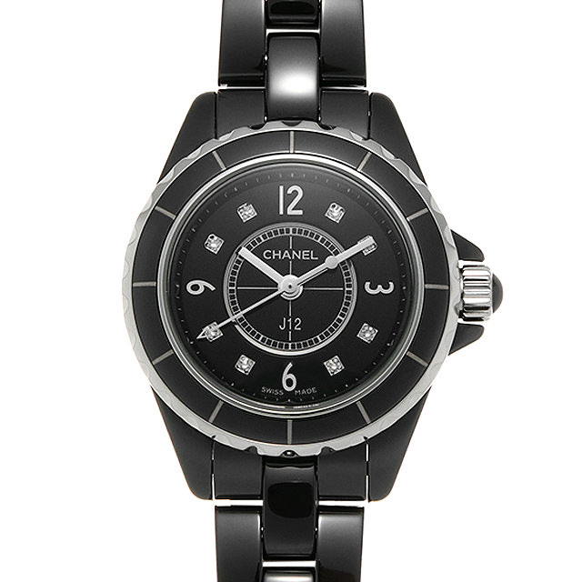 シャネル J12 黒セラミック 8Pダイヤ H2569 レディース(0087CHAU0012)【中古】【腕時計】【送料無料】