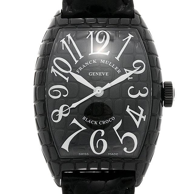 【48回払いまで無金利】フランクミュラー トノーカーベックス ブラッククロコ 8880SC BLK CRO AC メンズ(0M5KFRAU0001)【中古】【腕時計】【送料無料】