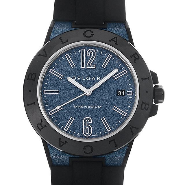 ブルガリ ディアゴノ マグネシウム ブルーラッカー DG41C3SMCVD メンズ(0MQFBVAU0001)【中古】【腕時計】【送料無料】