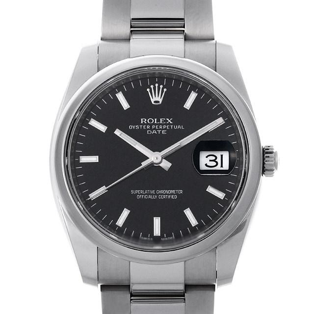 【48回払いまで無金利】ロレックス オイスターパーペチュアル デイト 115200 ブラック/バー ランダムシリアル メンズ(0DVXROAS0001)【未使用】【腕時計】【送料無料】