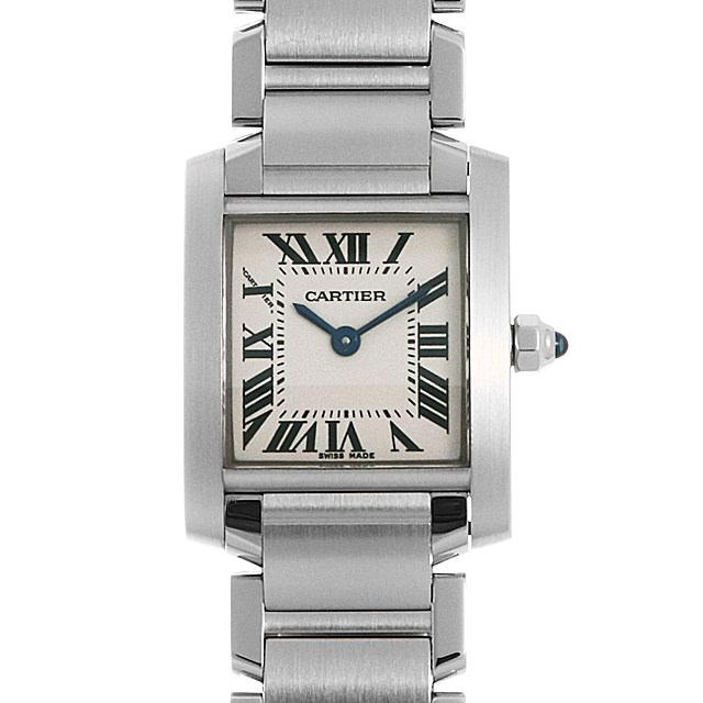 【48回払いまで無金利】カルティエ タンクフランセーズ SM W51008Q3 レディース(001HCAAU0137)【中古】【腕時計】【送料無料】