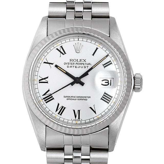 【48回払いまで無金利】ロレックス デイトジャスト 16014 ホワイト/ローマ バックリーダイヤル 87番 メンズ(007UROAU0529)【中古】【腕時計】【送料無料】