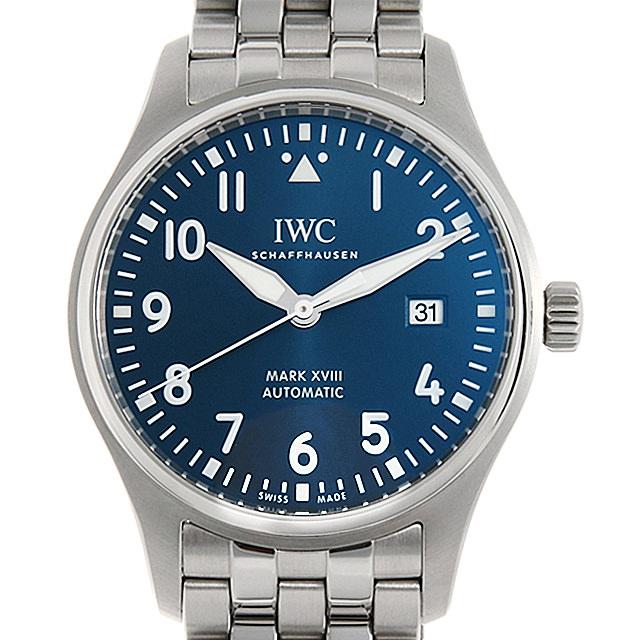 【48回払いまで無金利】IWC パイロット・ウォッチ マーク18 プティプランス IW327016 メンズ(0IDKIWAU0001)【中古】【腕時計】【送料無料】