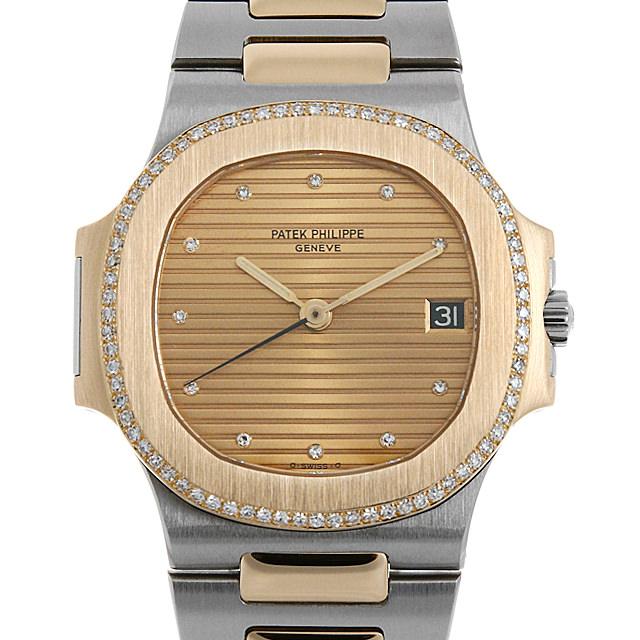 【48回払いまで無金利】パテックフィリップ ノーチラス ベゼルダイヤ 3800/2JA メンズ(0014PPAU0038)【中古】【腕時計】【送料無料】