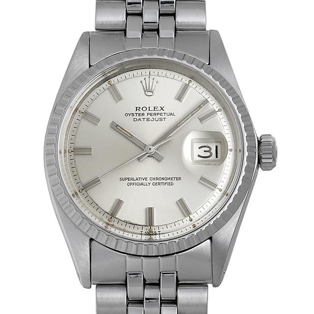 【48回払いまで無金利】ロレックス デイトジャスト 1603 ワイドボーイ/シルバー/バー 25番 メンズ(006XROAA0132)【アンティーク】【腕時計】【送料無料】
