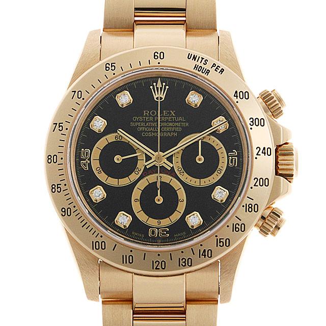 【48回払いまで無金利】ロレックス コスモグラフ デイトナ 16528G ブラック/逆6文字盤 W番 メンズ(007UROAU0629)【中古】【腕時計】【送料無料】