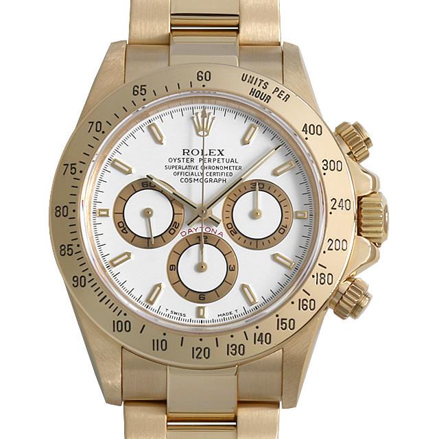 【48回払いまで無金利】ロレックス コスモグラフ デイトナ 16528 ホワイト W番 メンズ(007UROAU0639)【中古】【腕時計】【送料無料】