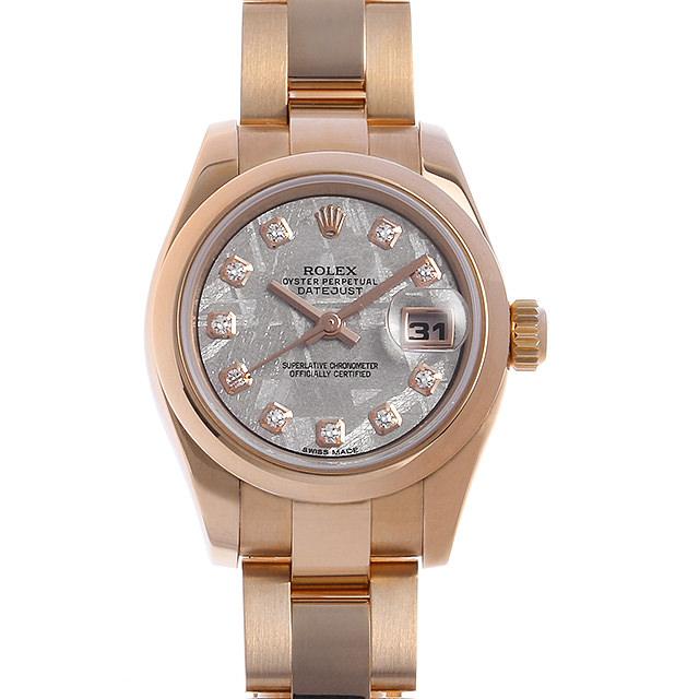 ロレックス デイトジャスト 10Pダイヤ 179165G METEO メテオライト K番 レディース(007UROAU0681)【中古】【腕時計】【送料無料】