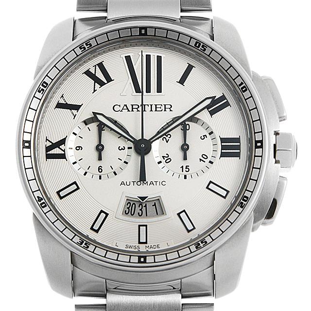 【48回払いまで無金利】カルティエ カリブル ドゥ カルティエ クロノグラフ W7100045 メンズ(008WCAAU0176)【中古】【腕時計】【送料無料】