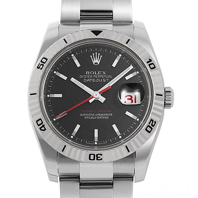 【48回払いまで無金利】ロレックス デイトジャスト ターノグラフ 116264 ブラック/3列ブレス Z番 メンズ(009VROAU0288)【中古】【腕時計】【送料無料】