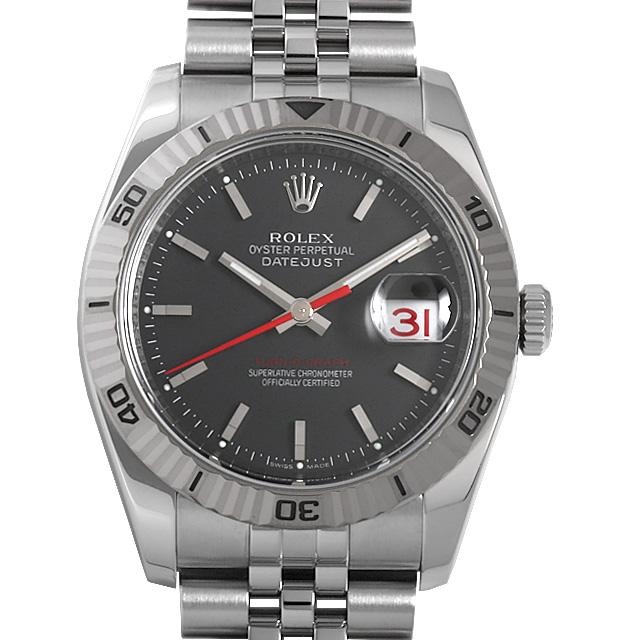 【48回払いまで無金利】ロレックス デイトジャスト ターノグラフ 116264 ブラック/5列ブレス D番 メンズ(009VROAU0291)【中古】【腕時計】【送料無料】