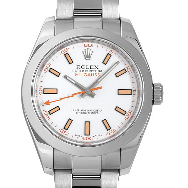 【48回払いまで無金利】ロレックス ミルガウス 116400 ホワイト V番 メンズ(02ZOROAU0003)【中古】【腕時計】【送料無料】