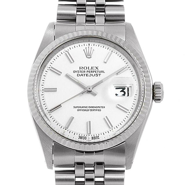 【48回払いまで無金利】ロレックス デイトジャスト 1601 ホワイト/バー 23番 メンズ(061XROAA0001)【アンティーク】【腕時計】【送料無料】
