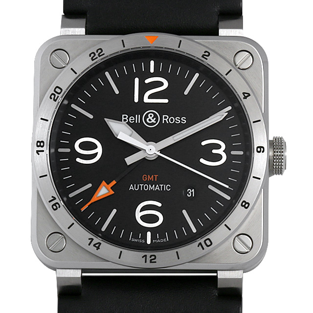 【48回払いまで無金利】ベル&ロス GMT BR03-93 メンズ(07EBBOAU0002)【中古】【腕時計】【送料無料】
