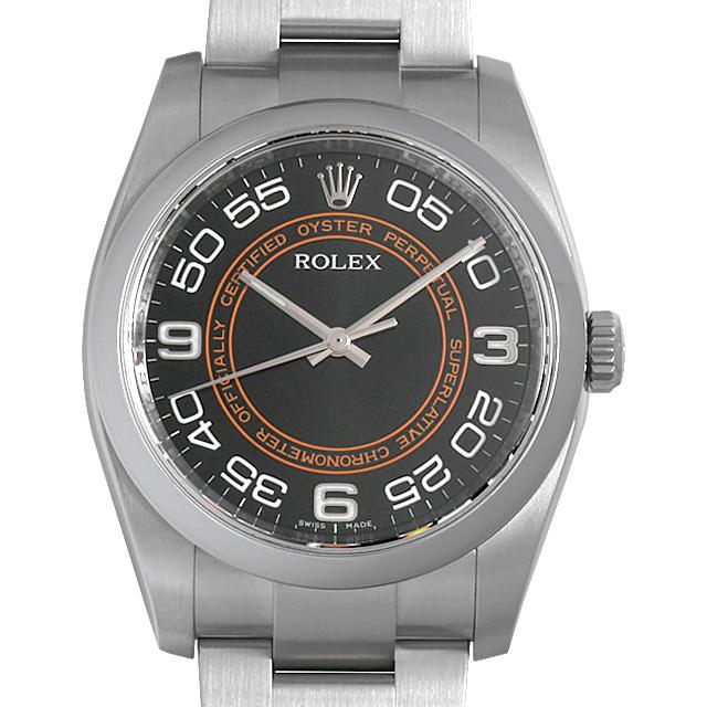 【48回払いまで無金利】ロレックス オイスターパーペチュアル 116000 ブラック/アラビア メンズ(0A89ROAU0136)【中古】【腕時計】【送料無料】