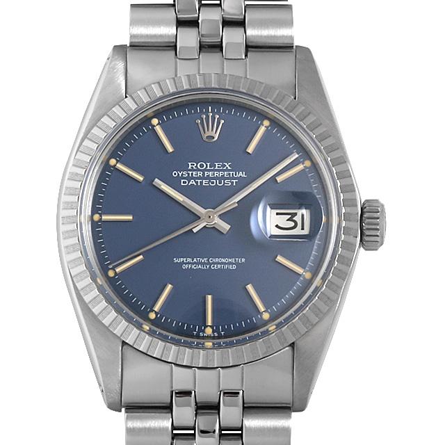 【48回払いまで無金利】ロレックス デイトジャスト 1603 ブルー/バー 38番 メンズ(0BCCROAA0029)【アンティーク】【腕時計】【送料無料】