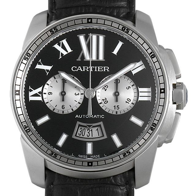 【48回払いまで無金利】カルティエ カリブル ドゥ カルティエ クロノグラフ W7100060 メンズ(0MQ5CAAU0001)【中古】【腕時計】【送料無料】