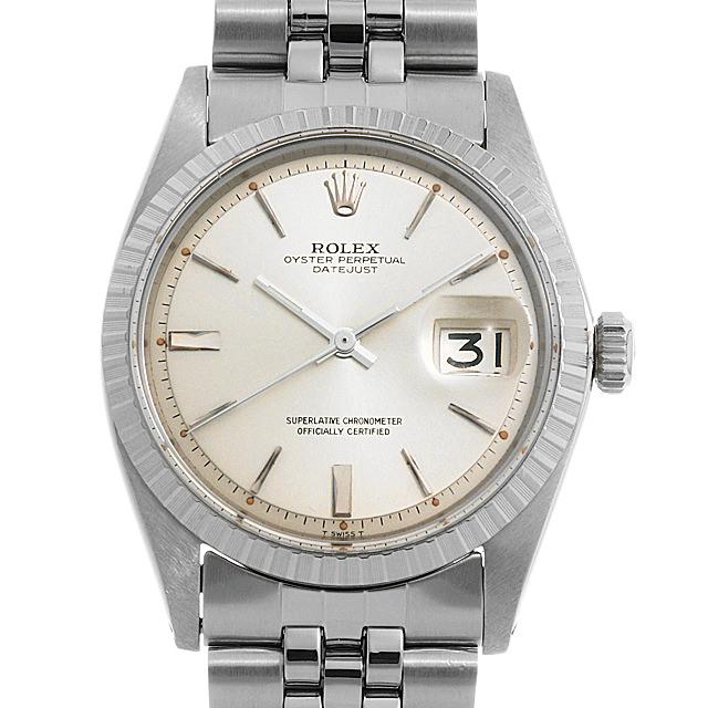 【48回払いまで無金利】ロレックス デイトジャスト 1603 シルバー/バー 10番 メンズ(0MZEROAA0001)【中古】【アンティーク】【腕時計】【送料無料】