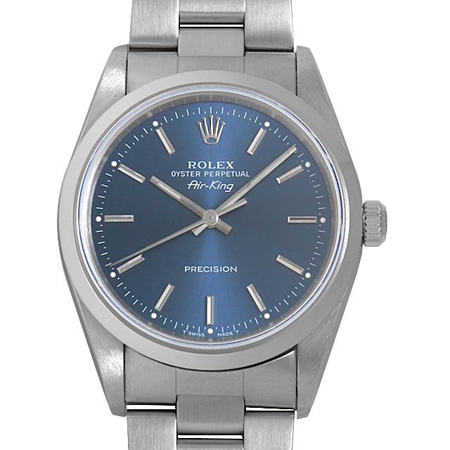 【48回払いまで無金利】ロレックス エアキング 14000 ブルー/バー U番 メンズ(0NH0ROAU0001)【中古】【腕時計】【送料無料】