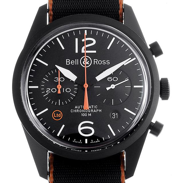 【48回払いまで無金利】ベル&ロス BR126 カーボン オレンジ NATO リミテッド BRV126-O-CA/NATO メンズ(0NW2BOAU0001)【中古】【腕時計】【送料無料】