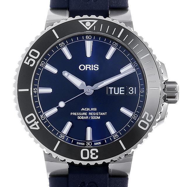 【48回払いまで無金利】オリス アクイス ビッグデイデイト 752 7733 4135R メンズ(006TOSAN0110)【新品】【腕時計】【送料無料】