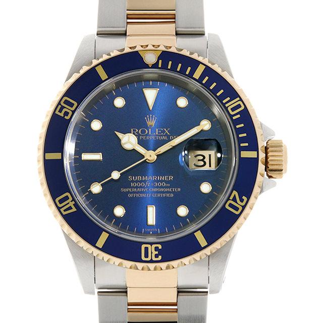 【48回払いまで無金利】ロレックス サブマリーナ デイト 16613 ブルー A番 メンズ(0014ROAU0174)【中古】【腕時計】【送料無料】