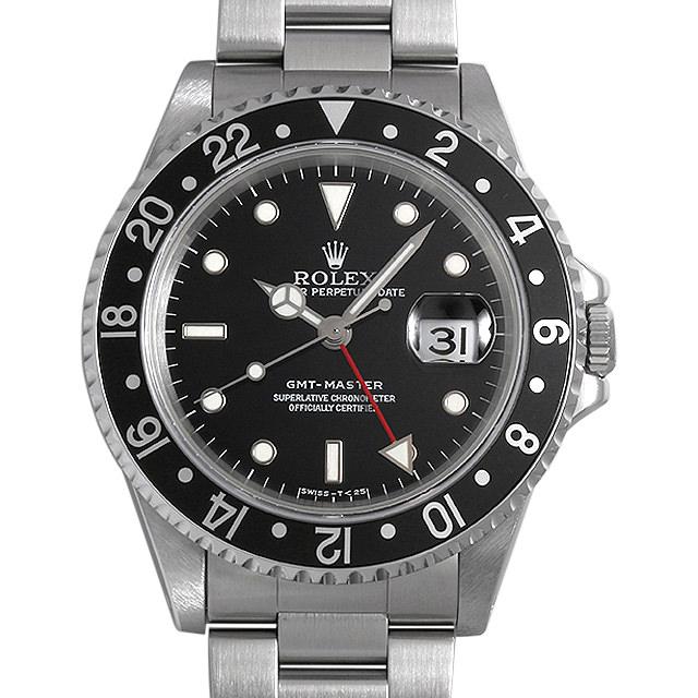 【48回払いまで無金利】ロレックス GMTマスター 黒ベゼル 16700 T番 メンズ(0063ROAU0276)【中古】【腕時計】【送料無料】