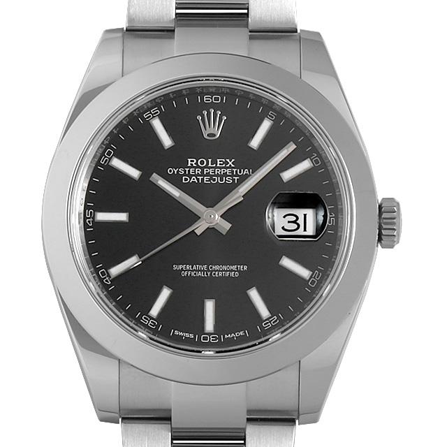 【48回払いまで無金利】ロレックス デイトジャスト41 126300 ブラック ランダムシリアル メンズ(0063ROAU0279)【中古】【腕時計】【送料無料】