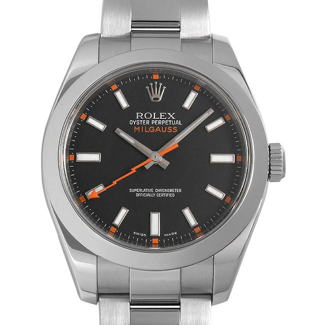 ロレックス ミルガウス 116400 ブラック V番 メンズ(0063ROAU0294)【中古】【腕時計】【送料無料】