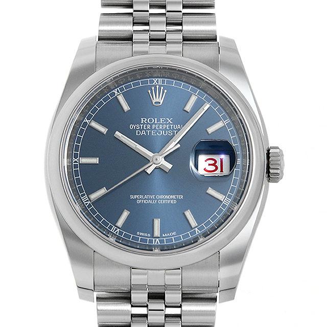 【48回払いまで無金利】ロレックス デイトジャスト36 5列ブレス 126200 ブルー/バー ランダムシリアル メンズ(0063ROAU0300)【中古】【腕時計】【送料無料】