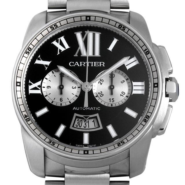 【48回払いまで無金利】カルティエ カリブル ドゥ カルティエ クロノグラフ W7100061 メンズ(006TCAAU0016)【中古】【腕時計】【送料無料】