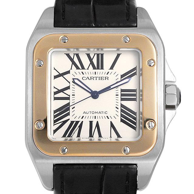 【48回払いまで無金利】カルティエ サントス100 LM W20072X7 メンズ(006XCAAU0205)【中古】【腕時計】【送料無料】