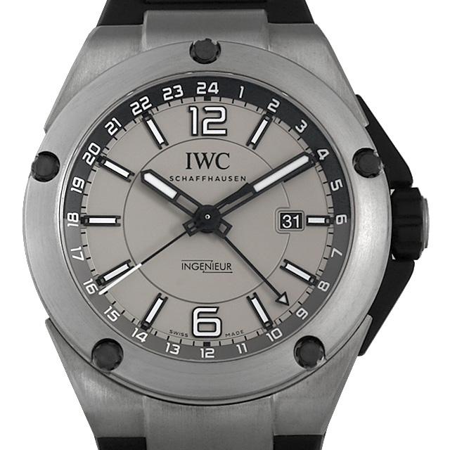 【48回払いまで無金利】IWC インヂュニア デュアルタイム チタニウム IW326403 メンズ(006XIWAU0155)【中古】【腕時計】【送料無料】