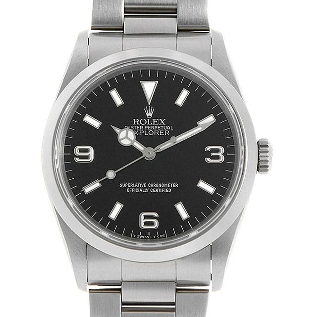 【48回払いまで無金利】ロレックス エクスプローラーI 14270 T番 メンズ(006XROAU1139)【中古】【腕時計】【送料無料】