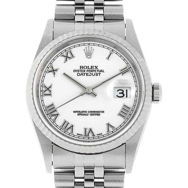 【48回払いまで無金利】ロレックス デイトジャスト 16234 ホワイト/ローマ U番 メンズ(006XROAU1145)【中古】【腕時計】【送料無料】