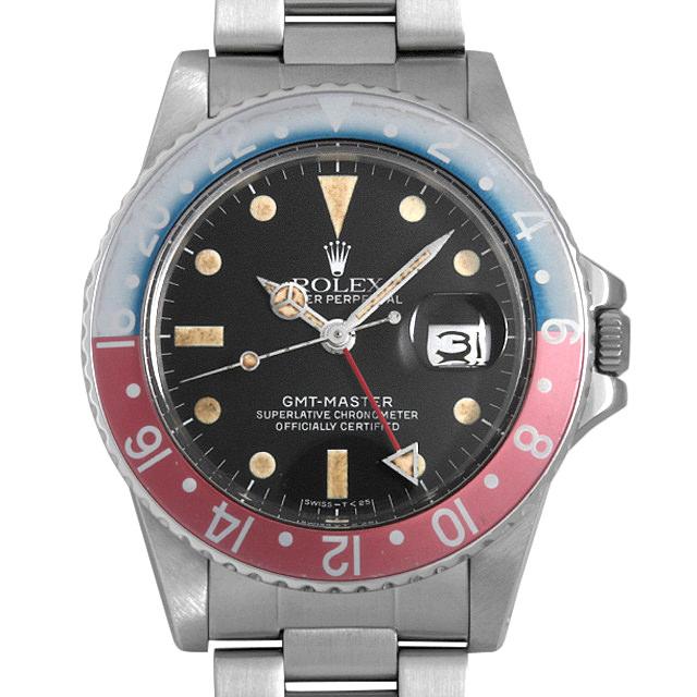 【48回払いまで無金利】ロレックス GMTマスター 赤青ベゼル 16750 フチなし 81番 メンズ(007UROAU0646)【中古】【腕時計】【送料無料】