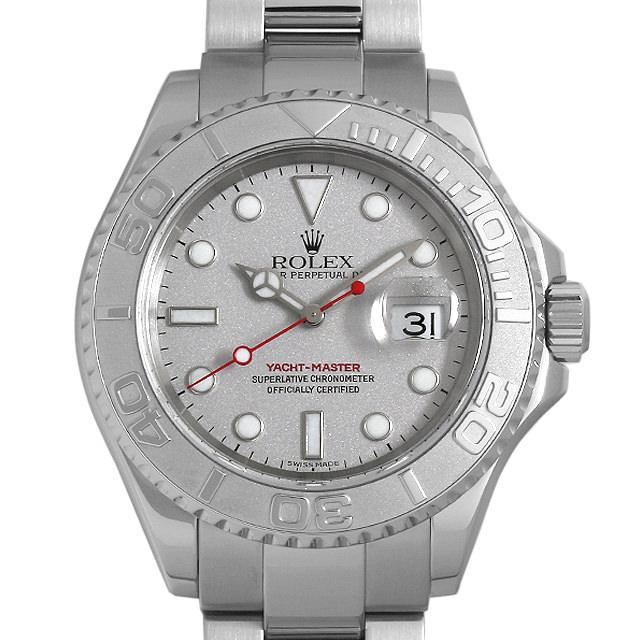 【48回払いまで無金利】ロレックス ヨットマスター ロレジウム 16622 シルバー F番 メンズ(007UROAU0653)【中古】【腕時計】【送料無料】