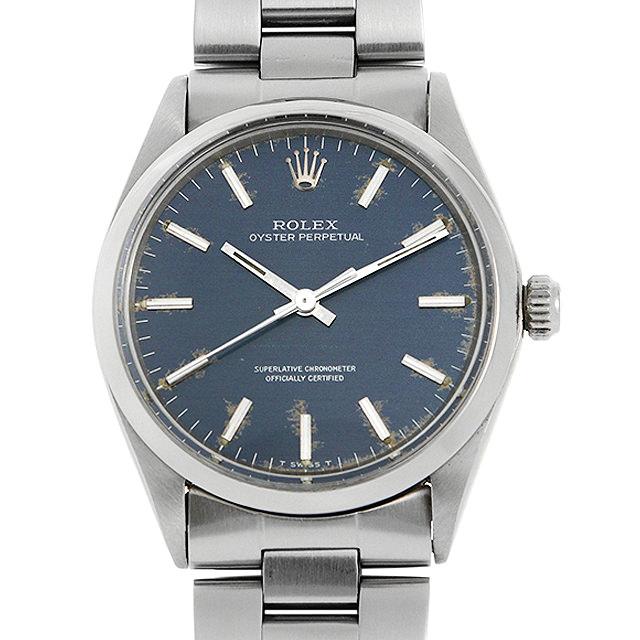 【48回払いまで無金利】ロレックス オイスターパーペチュアル 1002 ブルー/バー 20番 メンズ(008KROAA0009)【アンティーク】【腕時計】【送料無料】