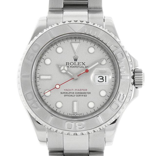 【48回払いまで無金利】ロレックス ヨットマスター ロレジウム 16622 シルバー Z番 メンズ(008KROAU0131)【中古】【腕時計】【送料無料】