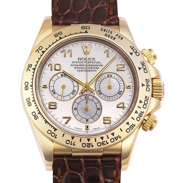ロレックス デイトナ 16518NA ホワイトシェル/アラビア U番 メンズ(009MROAU0188)【中古】【腕時計】【送料無料】